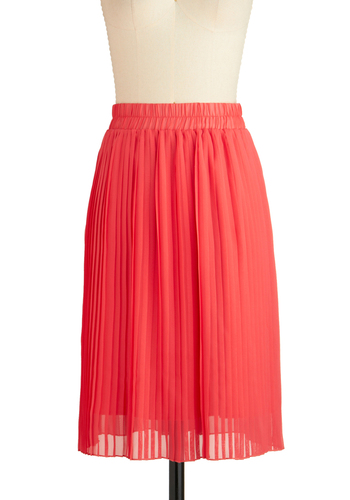 What I Meant to Sway Was Skirt - Long, Pink, Pleats, Party, Solid, Exclusives
