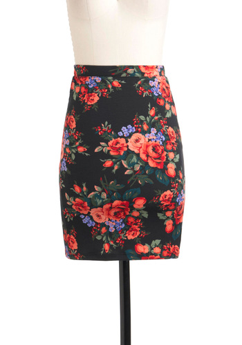 VIP Table Skirt - Black, Red, Green, Purple, Pink, Floral, Pencil, 90s, Short