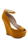 Step Into My Office Wedge - Yellow, Solid, High, Platform, Wedge, Peep Toe, Party, Tis the Season Sale