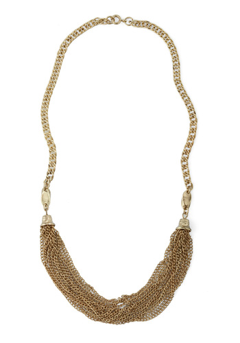 Lend a Strand Necklace - Gold, Solid, Chain, Work