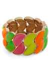 Twice the Slice Bracelet - Multi, Orange, Yellow, Green, Pink, Casual, 80s, Urban, Neon, Girls Night Out, Tis the Season Sale
