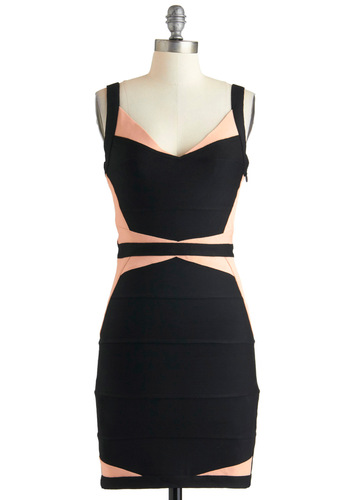 City of Mystique Dress - Black, Party, Short, Orange, Backless, Cutout, Sleeveless, Girls Night Out, Bodycon / Bandage