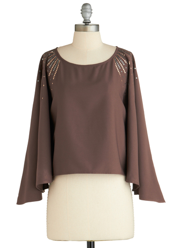 Sample 2061 - Brown, Silver, Bronze, Sequins, Party, Long Sleeve