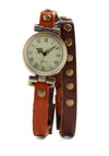 Stud-y Group Watch - Multi, Brown, Tan / Cream, Studs, Casual, Safari, Vintage Inspired, Scholastic/Collegiate, Leather, Steampunk