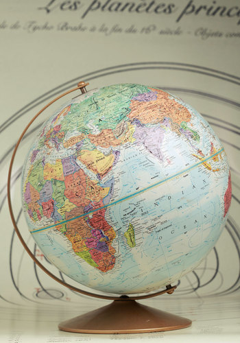 Vintage It's Been Too Longitude Globe