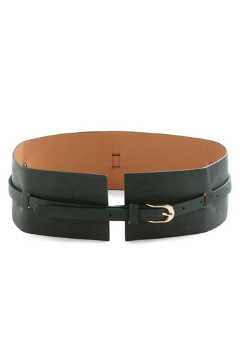 Square Cinch Belt - Solid, Casual, Faux Leather