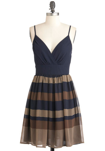 Soiree to Go Girl Dress - Blue, Yellow, Checkered / Gingham, Casual, Empire, Spaghetti Straps, Summer, Mid-length