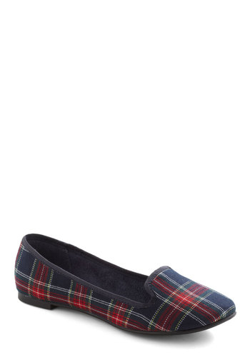 Walking Down the Isle Flat - Multi, Red, Green, Blue, Plaid, Casual, Fall, 90s, Scholastic/Collegiate, Flat, Holiday Sale