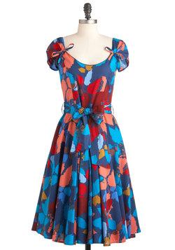 Petite Maxi Dress on Blue Floral Sundress