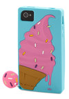 Cone You Hear Me Now iPhone Case - Blue, Pink, Brown