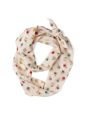 Keep on Trunkin' Scarf - Multi, Print with Animals, Cream, Multi, Casual, Quirky
