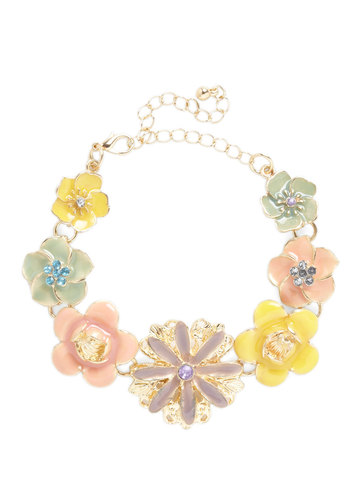 While Away the Flowers Bracelet - Pastel, Daytime Party, Tis the Season Sale