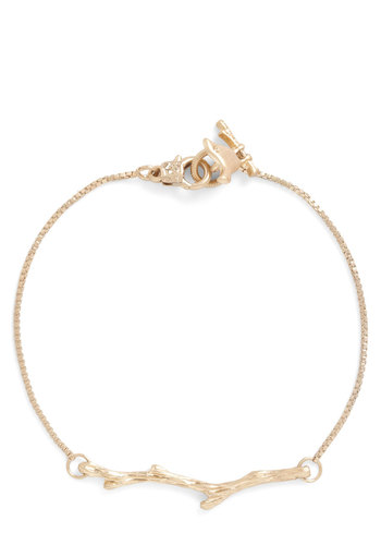 Branch Hand Bracelet - Gold, Solid
