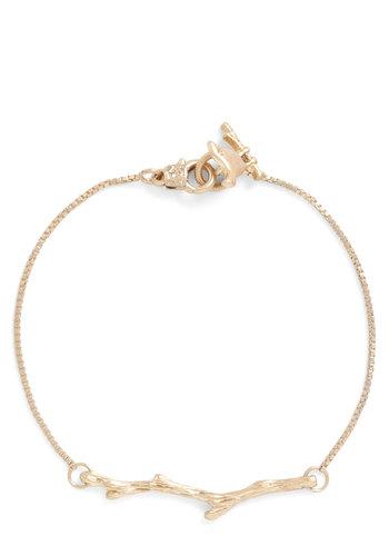 Branch Hand Bracelet - Gold, Solid, Gold