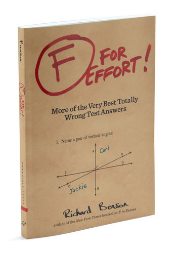 F For Effort! by Chronicle Books - Multi, Scholastic/Collegiate, Good