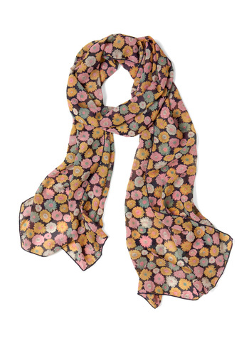 Made My Daisy Scarf - Multi, Black, Floral, Casual
