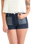 Important Decisions Shorts - Blue, Patch, Pockets, Casual, Urban, Tis the Season Sale