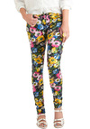 Stand Up Fleur Yourself Pants - Multi, Floral, Pockets, Casual, Skinny, 80s, Tis the Season Sale