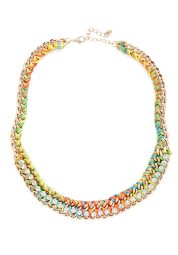 Luxe-y to Be Your Friend Necklace - Multi, Chain, Rhinestones, Pastel, Cocktail, Girls Night Out, Daytime Party