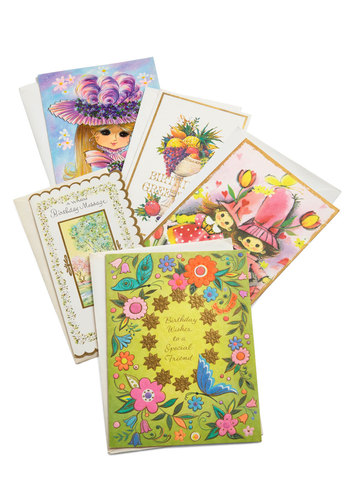 Vintage Snappy Birthday Card Set