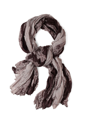 Cocoa Flow Scarf - Brown, Multi, Floral