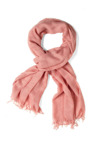 Milan the Go Scarf in Pink - Pink, Fringed, Pastel