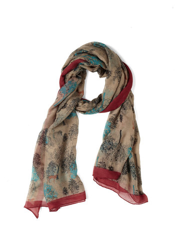 Flora and Fawns Scarf - Multi, Print
