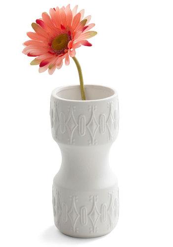 Funky Fresh-Cut Vase - White, Vintage Inspired, Dorm Decor, Handmade & DIY, Mod, Mid-Century, Minimal
