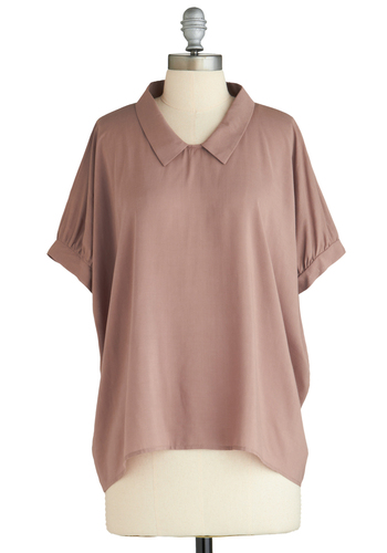 Sample 2111 - Brown, Solid, Casual, Short Sleeves