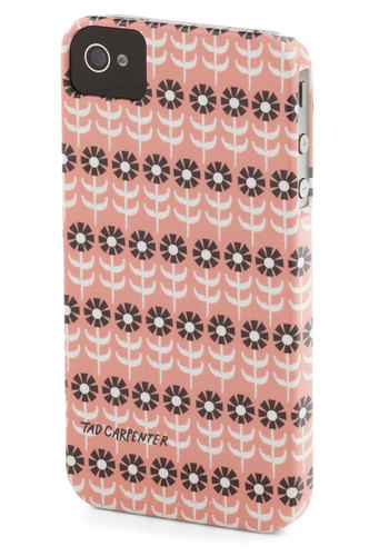 Fielding Calls iPhone Case - Pink, Brown, White, Floral, Mod