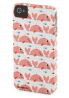 Whale Talk Soon iPhone Case - White, Blue, Pink, Print with Animals, Mid-Century