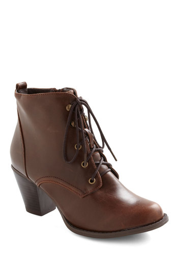 Industrious Nature Boot - Brown, Solid, Casual, Vintage Inspired, Steampunk