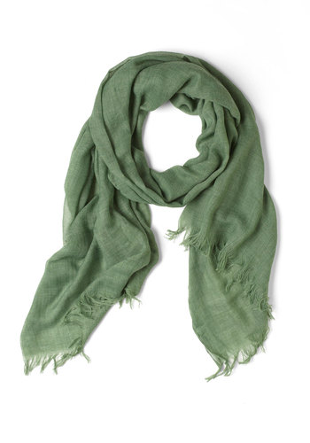 Milan the Go Scarf in Green - Green, Fringed