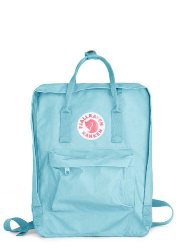 Wherever You Wander Backpack in Sky by Fjällräven - Blue, Solid, Pockets, Casual, Urban, Travel, Pastel