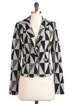 Geometric Up Your Sleeve Blazer