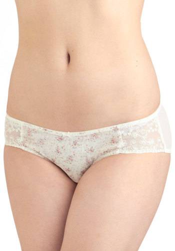 Daydream Come True Undies - Cream, Multi, Floral, Bows, Tis the Season Sale