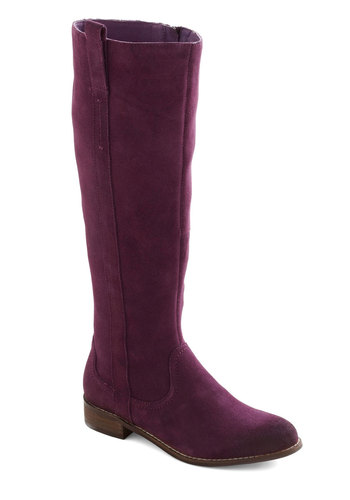 Jackie's Do It All Boot - Purple, Solid, Casual, Boho, Leather, Low