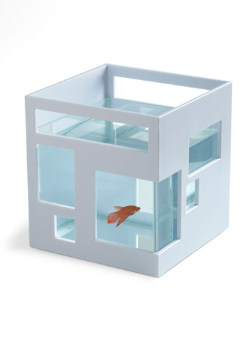 Ahead of the Current Fish Bowl - White, Dorm Decor, Minimal, Mod