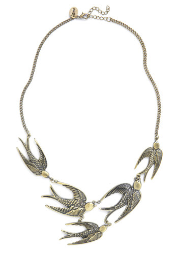 Going Up! Necklace - Gold, Statement