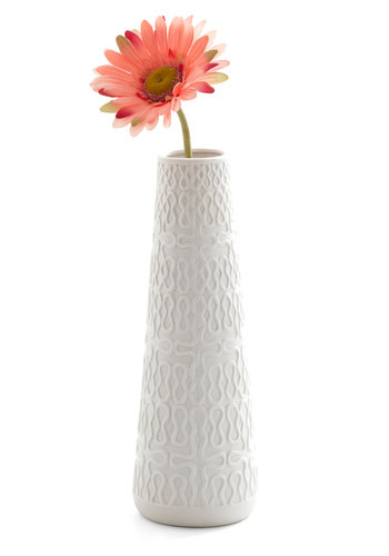 Posy a Question Vase - White, Mid-Century, Minimal, Dorm Decor
