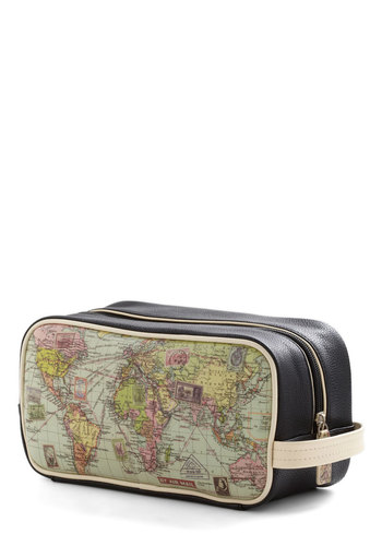 Cargo for It Map Travel Bag - Multi, Dorm Decor, Urban, Travel, Multi, Novelty Print, Blue