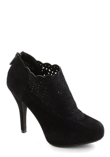 Manhattan Romance Heel - Black, Solid, Cutout, Party, Urban, Girls Night Out, Cocktail, Holiday Party, Faux Leather, Platform, High