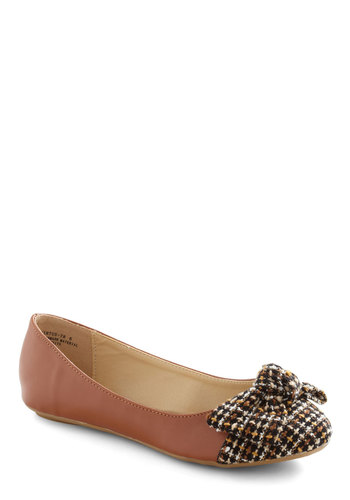 Turtle Sundae Flat - Brown, Multi, Bows, Casual, Fall, Faux Leather, Flat