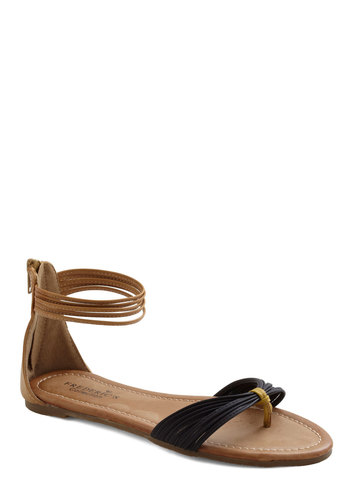 Shoreside Ceremony Sandal - Yellow, Solid, Flat, Black, Brown, Casual, Summer, Beach/Resort