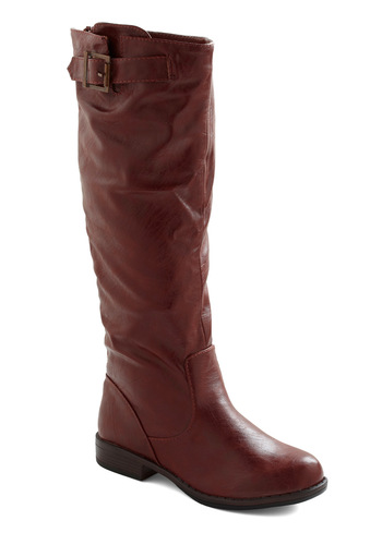Off to Ireland Boot - Brown, Solid, Buckles, Casual, Safari, Travel, Rustic, Fall, Winter, Low, Faux Leather, Good, Top Rated