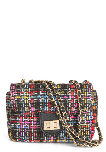 Take It or Weave It Bag - Multi, Black, Chain, Party, Work, Luxe, Press Placement