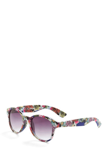 Made My Decoupage Sunglasses - Multi, Floral, Multi, Beach/Resort