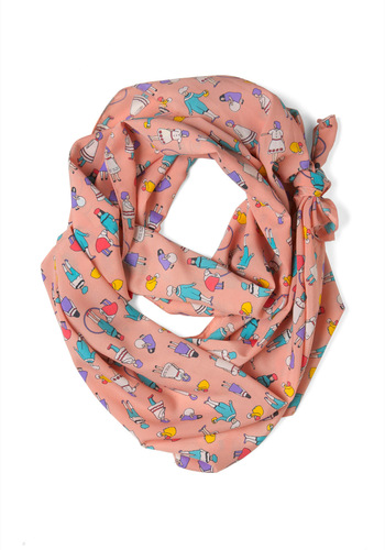 Play Away Scarf - Multi, Casual, Quirky