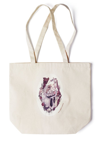 Art's Devotion Tote by Jasmin Darnell - Cream, Multi, Casual, Exclusives, Cotton, Tis the Season Sale