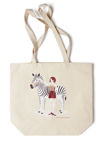 Art's Devotion Tote by Jayde A. Cardinalli - Cream, Multi, Casual, Exclusives, Cotton